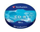 Диск CD-R Verbatim 700 Mb, 52x, Shrink (10), DL